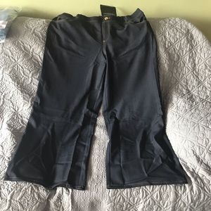 Iman wide leg pants, petite, new